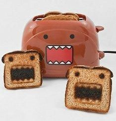 Domo Toaster......Not sure if this  will scare my little ones or if they will actually eat it..but its very cute