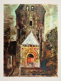 John Piper (British: 1903-1992) - 'Besse, Dordogne' (1968)