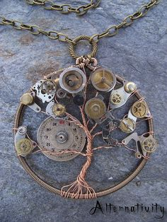 Steampunk Tree of Life by Alternativity on Etsy, $35.00