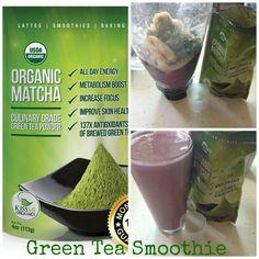 Vanilla Matcha Green Tea Smoothie - YUM eating