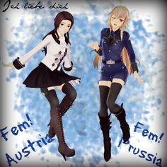 Fem!Austria and Fem!Prussia~ - Ich liebe Dich by Tokinaxe on DeviantArt