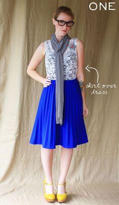 Skirt over dress