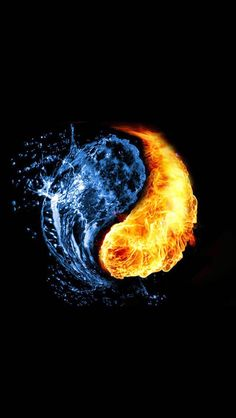 Fire & Water Yin & Yang art