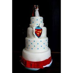Spectacular Superhero Wedding Cake found on Polyvore Haha I love it!♥