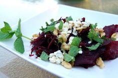 Beet Salad w/ Blue Cheese, Walnuts & Mint