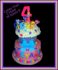 My Little Pony Birthday cake - Cake by KathyKake