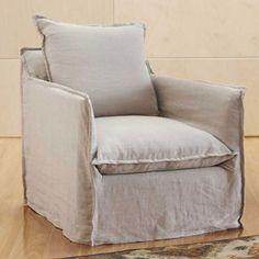 Montmartre Linen Slipcovered Chair