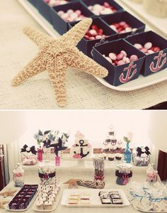 Nautical theme baby shower could do boy or girl! (: