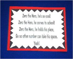 Poem - fits superhero theme and teaches about the purpose of the number zero! Preschool Poems, Kids Poems, Preschool Kindergarten, Numeracy Activities, Preschool Learning Activities, Teaching Math, Beginning Of School, 100 Days Of School, 1st Grade Math