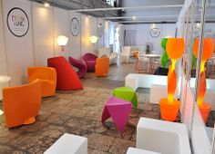 We (charming, chic and crazy in action)! Decorating a VIP room at Warsaw Fashion Weekend.