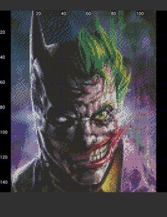 Batman Joker mix perler pattern by pjurst on DeviantArt