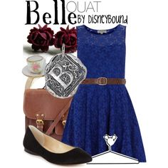 "Emilie de Ravin as Belle is my favorite casting ever. <3 <3 <3 ""Belle"" by lalakay on Polyvore"
