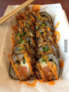 Smoked Salmon Makirrito (think sushi & burrito fusion)