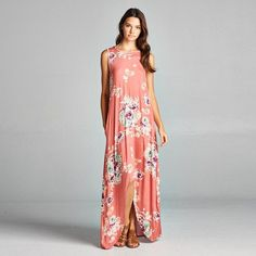 Print Sleeveless Prom Dress One Piece Dress [11604659727]