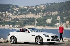 Cass thinks I should get a convertible :) New Mercedes SLK white