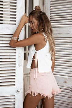 Carman Linen Top #SABOSKIRT