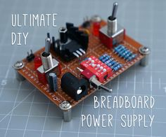 For prototyping, nothing beats a breadboard! But how to provide power to the little black and red rails that fuel our designs? There are a couple of conventional options:A bench/lab variable power supply. A must-have to be sure, but expensive, big and (arguably) overkill for low power circuit design and general hobbyists.Jumping power from an Arduino. Useful for testing, but it adds to the jumper clutter. Also, it can be useful to save those 5V / 3.3V rails for powering something el...