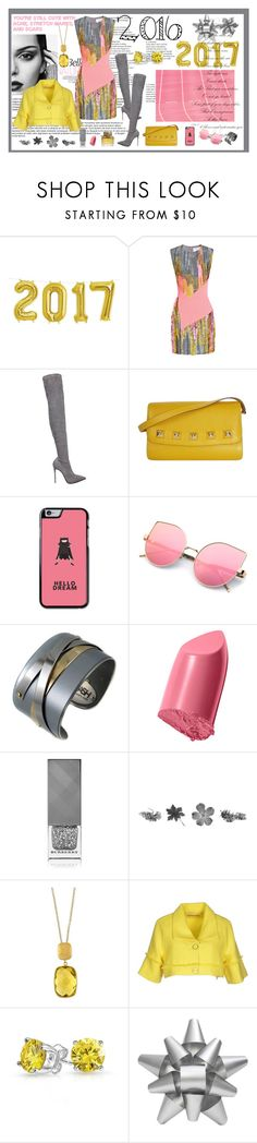 """""""pink yellow gray"""" by jennross76 ❤ liked on Polyvore featuring Prabal Gurung, Le Silla, Hermès, Porsche, Bobbi Brown Cosmetics, Burberry, Effy Jewelry, Fornarina, Bling Jewelry and Martha Stewart"""