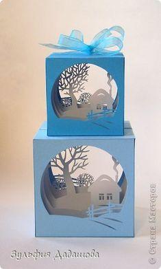Поделка, изделие Бумажный туннель, Вырезание: Кубы-туннели Бумага Новый год. Фото 1 3d Paper Art, Diy Paper, Paper Crafts, 3d Cuts, Kirigami Templates, Paper Origami Flowers, Tunnel Book, Licht Box, Papier Diy