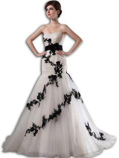 VILAVI Women's Mermaid Tulle Sweetheart Bowknot Wedding D... https://www.amazon.com/dp/B015CLCRU2/ref=cm_sw_r_pi_dp_x_0QTBybR79HAAB