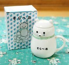 More Shinzi Katoh teaware. Sora bear!