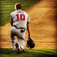 Missing my man out on the field! Braves baseball just isnt the same! Chipper Jones <3