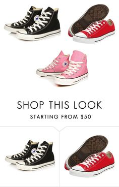 """""""Shoe love"""" by raquel-gomes ❤ liked on Polyvore featuring Converse"""