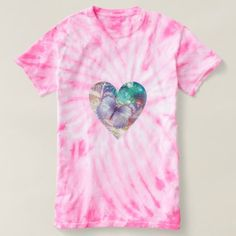 Pretty butterfly pink tie dye ladies t-shirt - pink gifts style ideas cyo unique