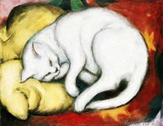 Franz Marc - The white cat
