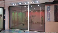 Switchable Glass Wall for Nationwide PLC, New Technology Area, (Privacy Off)
