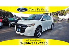 2014 White Platinum Metallic Tri-Coat Ford Edge Sport 36484P