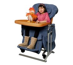 This is our son's lounge chair.  REALLY awesome!  We can tilt it just right and use NO straps.  Usually he has about 10 straps on his body.  We had to import it from England and altogether I think it was about 5K out of pocket.  Crazy expensive like all things in special needs world!