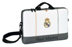 La última colección de papelería escolar del Real Madrid para este año 2014 está inspirada en la equipación oficial del club blanco para la actual temporada. Dimensiones: 40 cm x 27 cm x 4 cm.