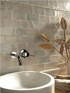 Love the idea of faucet Directly in the wall for the sink.