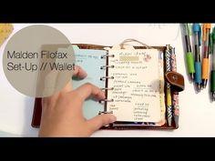 Malden Pocket Filofax Set Up! {wallet} - YouTube