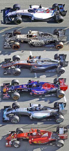 F1 2015 chassis comparison: paint them all white & then try to tell them apart ...