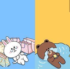 Cute Love Gif, Cute Love Pictures, Cute Cartoon Drawings, Cartoon Styles, Cony Brown, Brown Bear, Superhero Clipart, Bear Gif, Lines Wallpaper