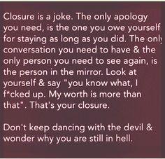 Closure.