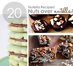 20 Nutella Recipes! YUM! Pin now read later