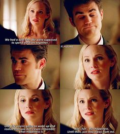 """#TVD 8x09 """"The Simple Intimacy of the Near Touch"""" - Caroline and Stefan"""