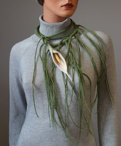 Necklace | Regina Doseth.  Merino wool felt and threads