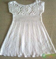 Crochet Baby Dress Pattern Free Easy Crochet Baby Dress Pattern Free Easy Crochet Baby Dress Pattern Free Easy Free Crochet Pattern Easy Ba Dress Make. Crochet Baby Dress Pattern, Baby Dress Patterns, Crochet Baby Clothes, Crochet Blouse, Crochet Patterns, Knitting Patterns, Skirt Patterns, Crochet Dresses, Easy Knitting
