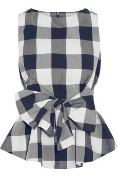 Studio Nicholson Toshima gingham cotton-poplin top | NET-A-PORTER
