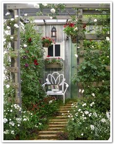 Garden Nook, Love Garden, Terrace Garden, Garden Spaces, Dream Garden, Garden Art, Garden Design, Outside Room, Garden Windows