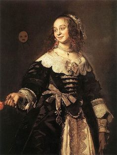 Frans Hals, Portrait of Isabella Coymans, wife of Stephan Geraedts, One half of my favorite Baroque couple! Johannes Vermeer, Rembrandt, Historical Costume, Historical Clothing, Historical Fiction, List Of Paintings, Oil Paintings, 17th Century Fashion, 18th Century