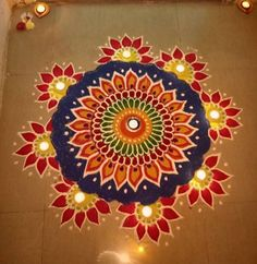 Latest Rangoli Designs for Diwali Browse over Ideas & Images on rangoli design for Diwali festival. Diwali is never complete without rangoli colours. Rangoli Designs 2016, Rangoli Designs Simple Diwali, Rangoli Simple, Indian Rangoli Designs, Rangoli Designs Flower, Free Hand Rangoli Design, Rangoli Border Designs, Small Rangoli Design, Rangoli Patterns