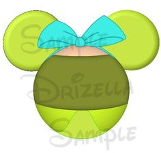 Step Sister Drizella (Cinderella) inspired Character DIGITAL printable Mickey head file DIY on Etsy, $3.00