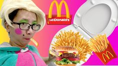 Bad baby Eats Mcdonalds From TOILET SUPER GROSS Funny Toy Freaks Bad baby
