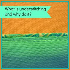 Understitching a facing, neckline or lining.  What is understitching, why and how do you do it.  I'm converted!