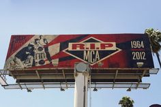 MCA tribute by Shepard Fairey @ Sunset Blvd and Highland Ave.